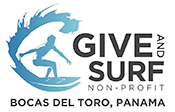 Give and Surf Non-Profit • Bocas del Toro, Panama Logo