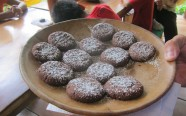 Delicious homemade chocolate cookies for our hungry taste testers.